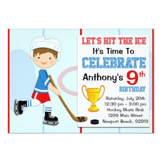 Invitación de la fiesta de cumpleaños del hockey