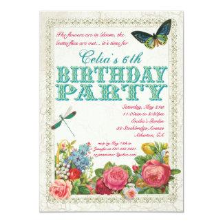 Invitación de la fiesta de cumpleaños del jardín