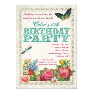 Invitación de la fiesta de cumpleaños del jardín d