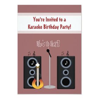 Invitación de la fiesta de cumpleaños del Karaoke Invitación 12,7 X 17,8 Cm