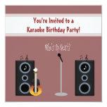 Invitación de la fiesta de cumpleaños del Karaoke