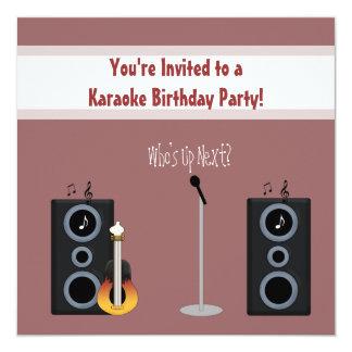 Invitación de la fiesta de cumpleaños del Karaoke Invitación 13,3 Cm X 13,3cm