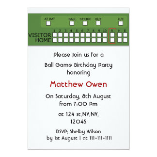 Invitación de la fiesta de cumpleaños del marcador invitación 12,7 x 17,8 cm