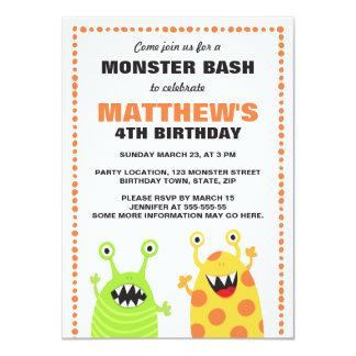 Invitación de la fiesta de cumpleaños del monstruo
