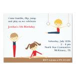 Invitación de la fiesta de cumpleaños del muchacho invitación 12,7 x 17,8 cm