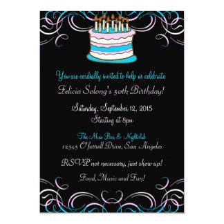 Invitación de la fiesta de cumpleaños del orgullo