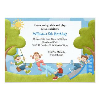 Invitación de la fiesta de cumpleaños del parque