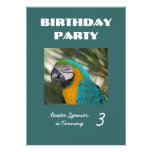 Invitación de la fiesta de cumpleaños del parque z