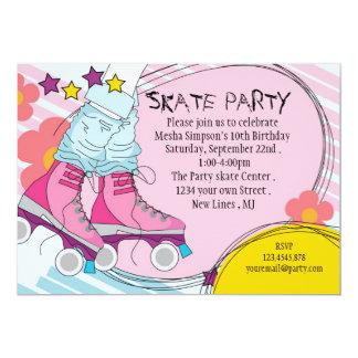 Invitación de la fiesta de cumpleaños del patinaje invitación 12,7 x 17,8 cm