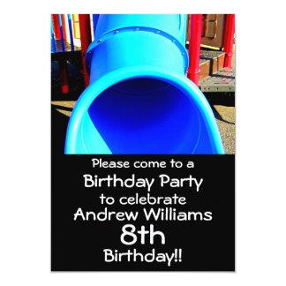 Invitación de la fiesta de cumpleaños del patio o