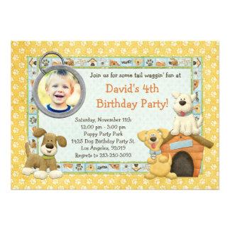 Invitación de la fiesta de cumpleaños del perrito