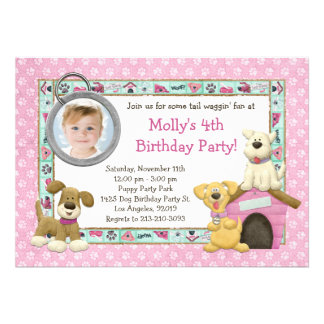 Invitación de la fiesta de cumpleaños del perro de