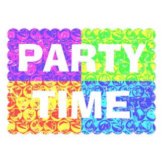 Invitación de la fiesta de cumpleaños del plástico