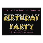 Invitación de la fiesta de cumpleaños del potro invitación 12,7 x 17,8 cm