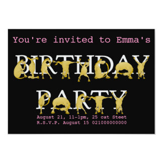 Invitación de la fiesta de cumpleaños del potro