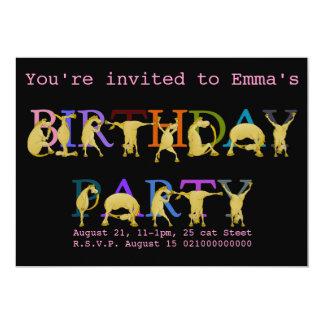 Invitación de la fiesta de cumpleaños del potro,