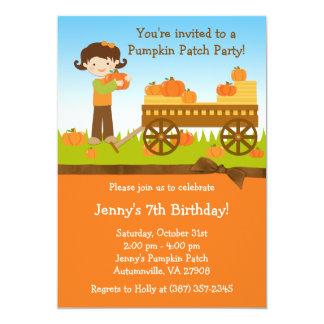Invitación de la fiesta de cumpleaños del remiendo