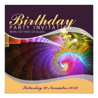 Invitación de la fiesta de cumpleaños del remolino