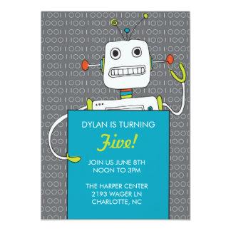 Invitación de la fiesta de cumpleaños del robot
