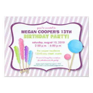 Invitación de la fiesta de cumpleaños del Shoppe