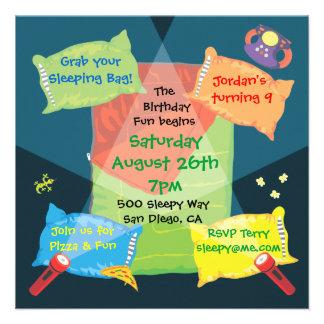 Invitación de la fiesta de cumpleaños del Sleepove