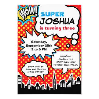 Invitación de la fiesta de cumpleaños del super