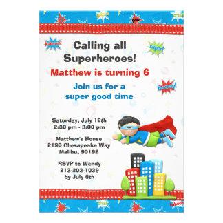 Invitación de la fiesta de cumpleaños del super hé