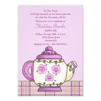 Invitación de la fiesta de cumpleaños del té de