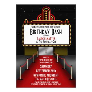 Invitación de la fiesta de cumpleaños del teatro d