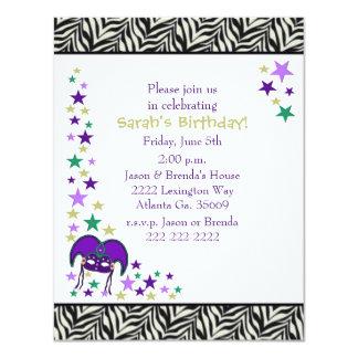 Invitación de la fiesta de cumpleaños del tema de
