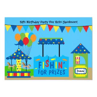 Invitación de la fiesta de cumpleaños del tema del