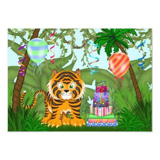 Invitación de la fiesta de cumpleaños del tigre de