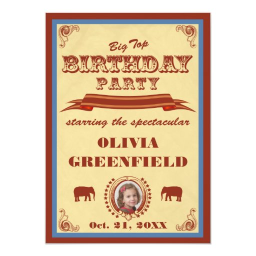 Invitación de la fiesta de cumpleaños del top