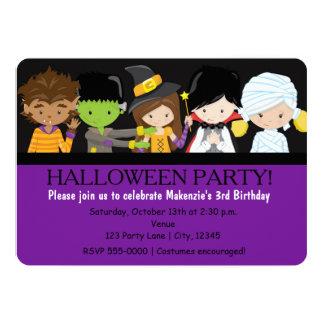 Invitación de la fiesta de cumpleaños del traje de