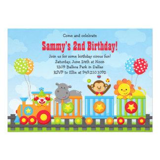 Invitación de la fiesta de cumpleaños del tren del