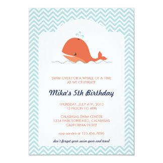 Invitación de la fiesta de cumpleaños del verano