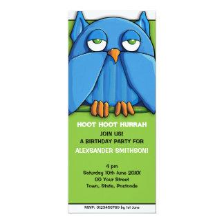 Invitación de la fiesta de cumpleaños del verde invitación 10,1 x 23,5 cm