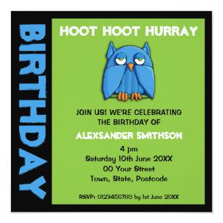 Invitación de la fiesta de cumpleaños del verde invitación 13,3 cm x 13,3cm