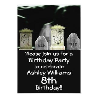 Invitación de la fiesta de cumpleaños del zombi