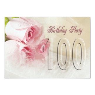 Invitación de la fiesta de cumpleaños por 100 años