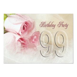 Invitación de la fiesta de cumpleaños por 99 años