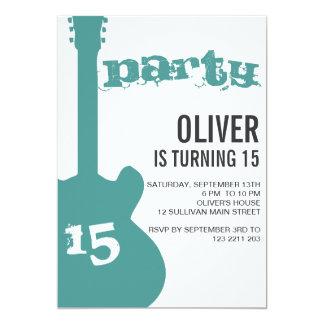 Invitación de la fiesta de cumpleaños - silueta invitación 12,7 x 17,8 cm