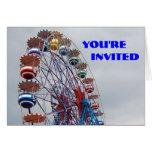 Invitación de la fiesta de cumpleaños tarjetón