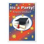 Invitación de la fiesta de graduación invitación 12,7 x 17,8 cm