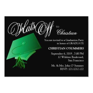 Invitación de la fiesta de graduación invitación 11,4 x 15,8 cm