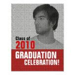 Invitación de la fiesta de graduación 3 del parte invitación 10,8 x 13,9 cm