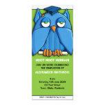 Invitación de la fiesta de graduación 4 del verde invitación 10,1 x 23,5 cm
