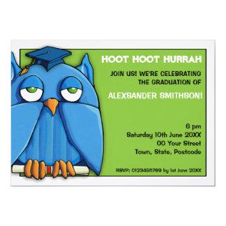 Invitación de la fiesta de graduación 6 del verde invitación 12,7 x 17,8 cm