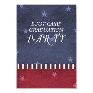 Invitación de la fiesta de graduación de Boot Camp