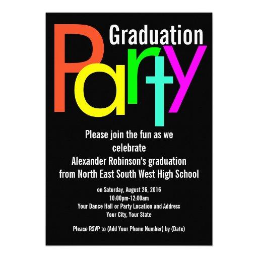 Invitación de la fiesta de graduación de Brights d